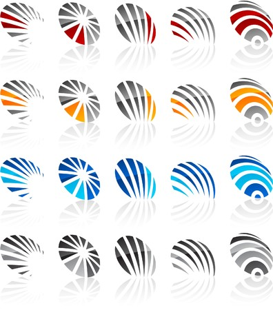 protuberant:   illustration of abstract symbols.