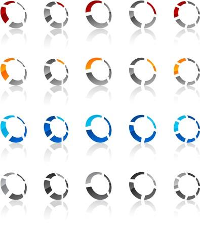 logo circle:   illustration of round symbols.