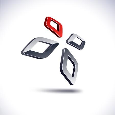 Abstract modern 3d diamond logo. Stock Vector - 7845040