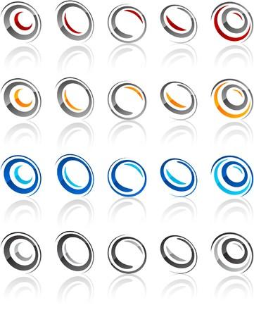protuberant: illustration of rotate symbols.