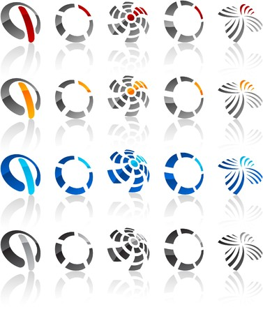 protuberant:  illustration of round symbols.