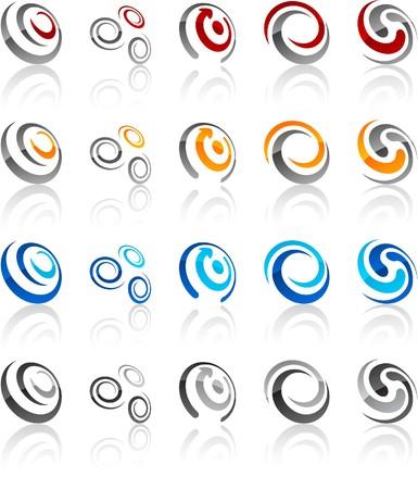 red swirl: illustrazione dei simboli del ricciolo.