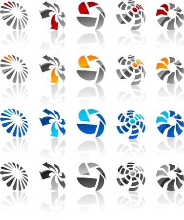 salient:   illustration of rotate symbols.