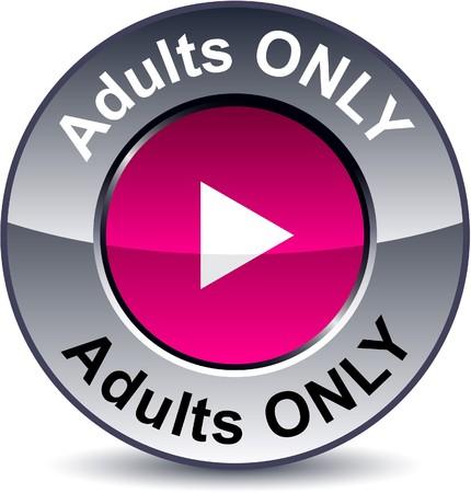 Botón metálico sólo redondo de adultos.  Ilustración de vector