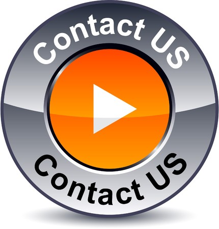 Contact us round metallic button. Stock Vector - 7922643