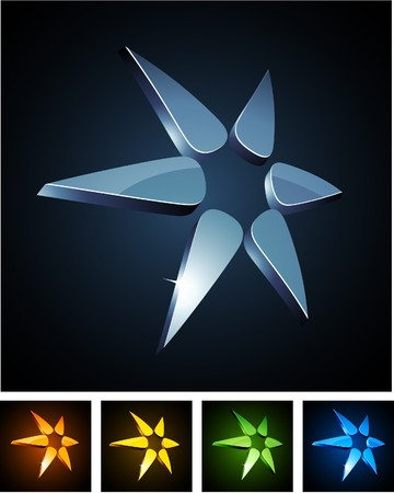 illustration of star shiny symbols.