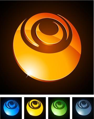 aureola:  illustration of shiny symbols.