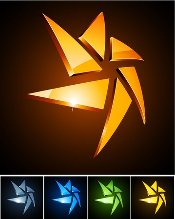 star logo:  illustration of star shiny symbols.