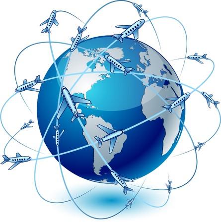 trajectoire: Le bleu de transport d�taill�s haute terre.