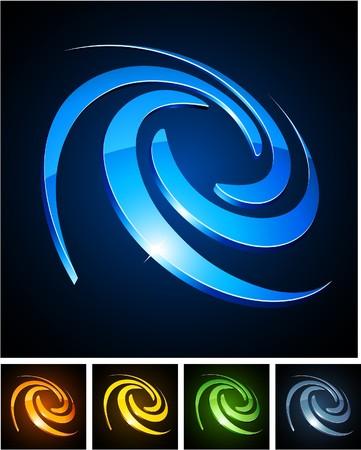 aureola:  illustration of swirl shiny symbols.  Illustration