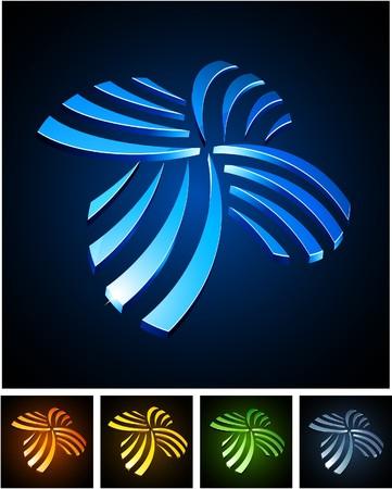 aureole:  illustration of shiny symbols.