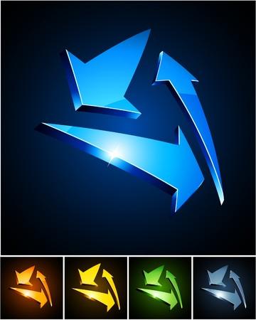 aureola:  illustration of triangle shiny symbols. Illustration