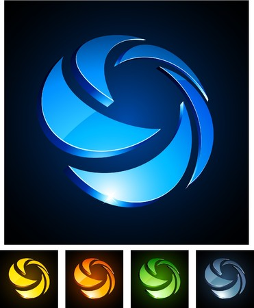 illustration of 3d rotation symbols. Stock Vector - 8052562