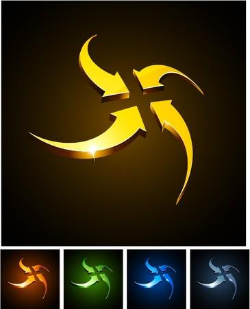 centering:  illustration of centering shiny symbols.