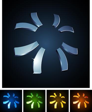 illustration of 3d sun symbols.  Stock Vector - 8372564