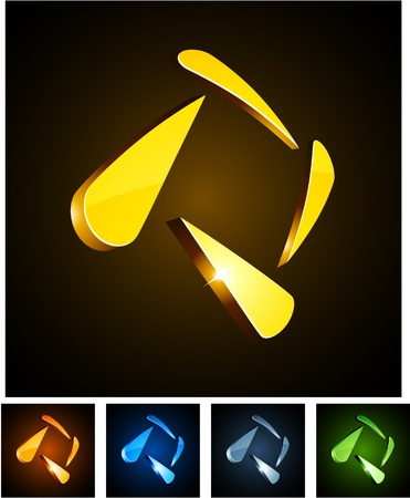 illustration of 3d shiny diamonds. Stock Vector - 8372567