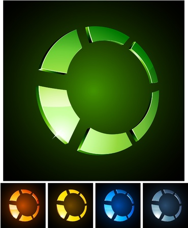 Vector illustration of 3d shiny rings. Stock Vector - 8477764
