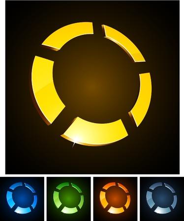 illustration of 3d round symbols.  Stock Vector - 8635802