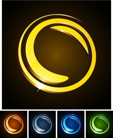 illustration of 3d round symbols.  Vector