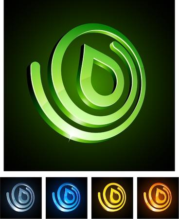 illustration of 3d nature symbols. Vector