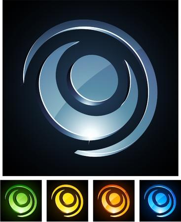 convex shape:   illustration of round shiny symbols.  Illustration