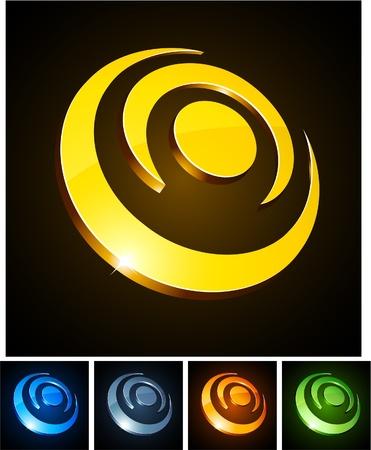 convex shape:   illustration of 3d shiny circles.