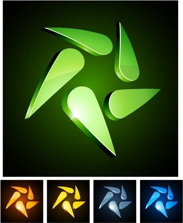 loghi aziendali:   illustrazione dei simboli lucido ricciolo.  Vettoriali