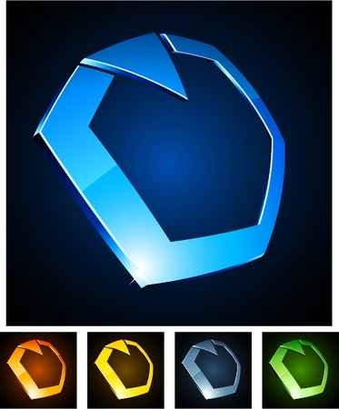 illustration of ring shiny symbols.  Vector