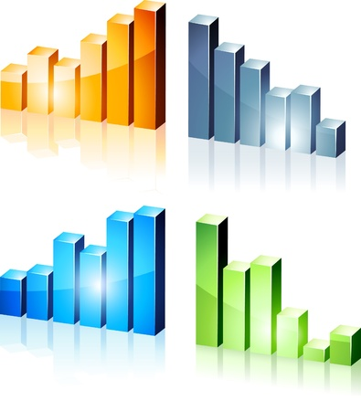 bright 3d graphs. Stock Vector - 8656568