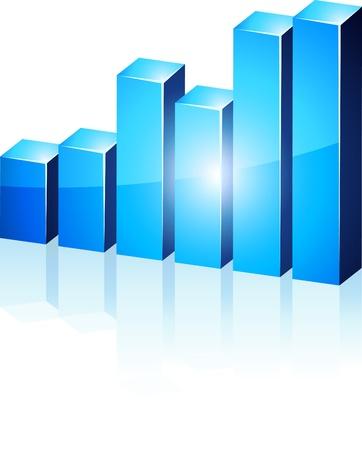 tendencja:   jasny 3d wykres niebieski.