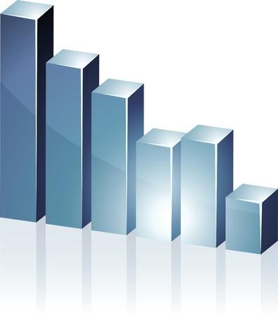 bar chart:   bright 3d graph.  Illustration