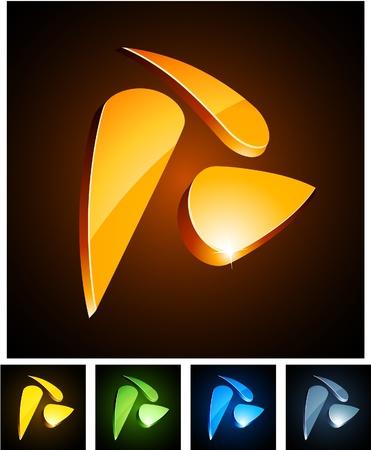 star logo:   illustration of swirl shiny symbols.  Illustration