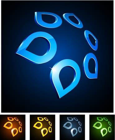 illustration of 3d star symbols.  Stock Vector - 8656585