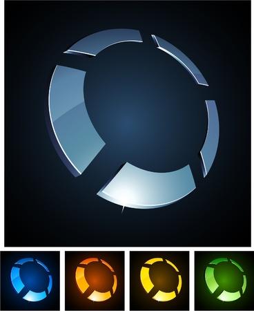 illustration of 3d round symbols. Stock Vector - 8656571