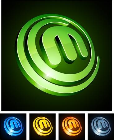 logotipos de empresas:  Ilustraci�n de letras brillantes m.