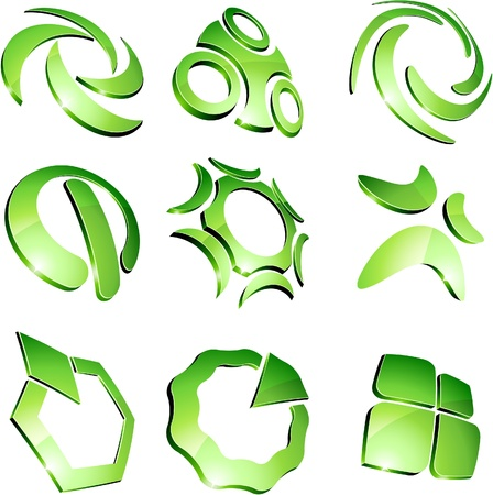 Set of 3d vibrant signs. Stock Vector - 8708426