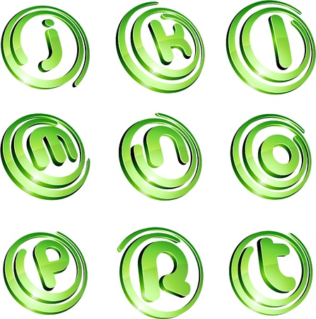 Set of 3d letter  signs. Vector