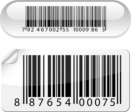 bar code:   illustration of barcode buttons.  Illustration