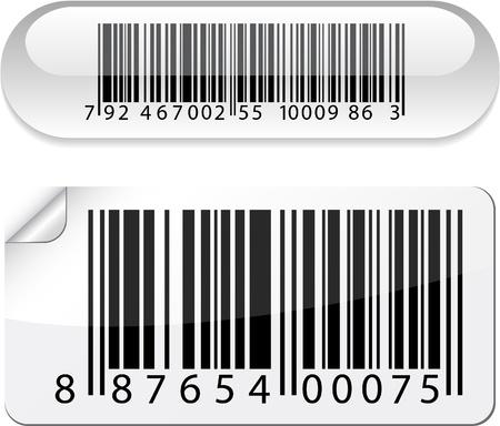 white bars:   illustration of barcode buttons.  Illustration