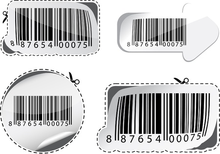 collection of stylized barcodes. Vector