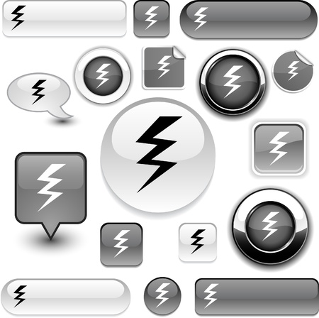 voltage gray: warning   grey icons.