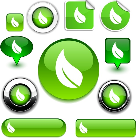 Ecology   high-detailed icons. Stock Vector - 8755175