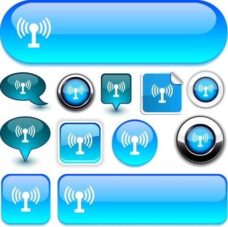 Radio  glossy icons.  Stock Vector - 8755202