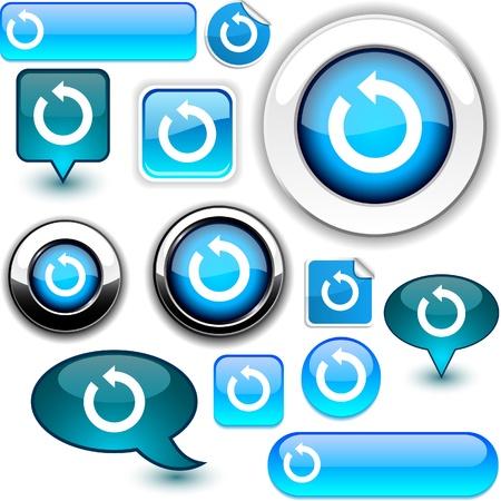 refresh: Refresh vector glossy icons.  Illustration