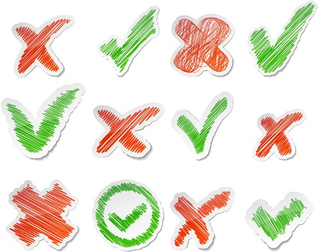 cross hatched: Scribbled collection of validation stickers.