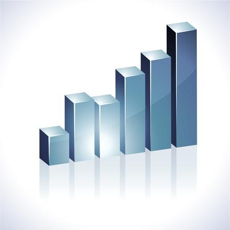 Vector bright 3d graph. Stock Vector - 8950164