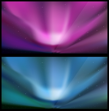 astrophotography:   illustration of glossy polaris aurora.