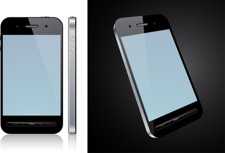 phone isolated:   Concept communicator. No transparency effects.