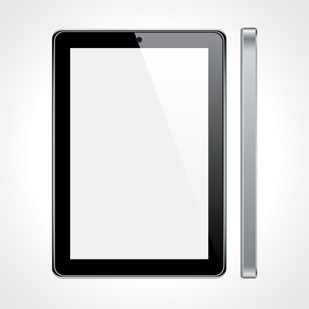 Vector Concept tablet. No transparency effects. Stock Vector - 9579713