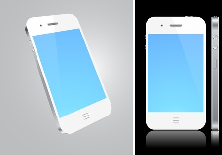 Vector Concept smart phone. No transparency effects. Stock Vector - 9579743